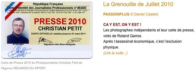 Il Naura Pas Fallu Attendre Bien Longtemps Avant Que Se Concrtisent Les Prdictions De La Grenouille Juin Ndlr 2010