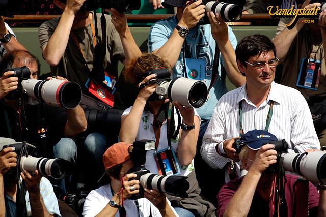 Photo C Grard Vandystadt Agence Regards Du Sport Photographes Lors Dun Match Roland Garros En 2007 Parmi Eux Lunettes Le Franais